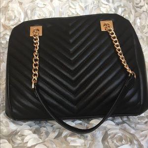 Soft faux leather handbag
